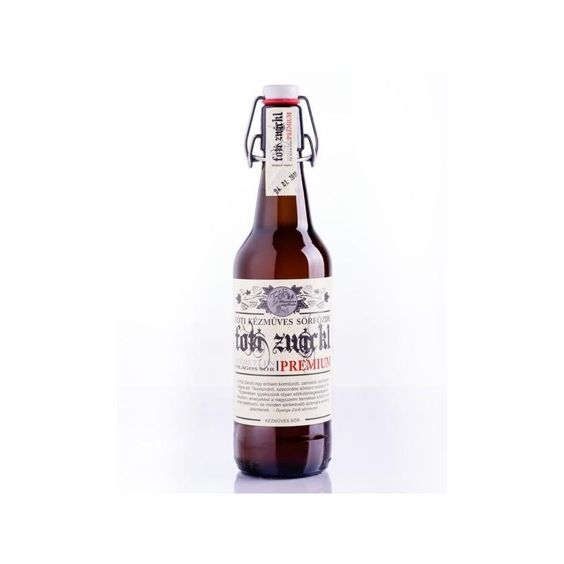 Fóti Zwickl 0,5L csatos üvegben világos sör