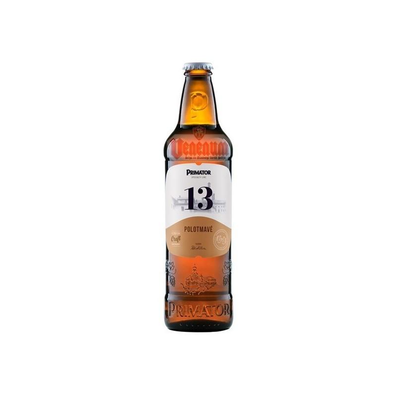 Primátor 13° POLOTMAVÝ 0,5L Cseh sör