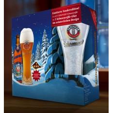 Erdinger karácsonyi 5+1 búzasör csomag pohárral