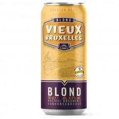 Vieux Bruxelles Blond 4,8% 0,5L dobozos belga sör