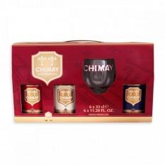 Chimay ajándékcsomag 3 x 0,33l belga sör + pohár