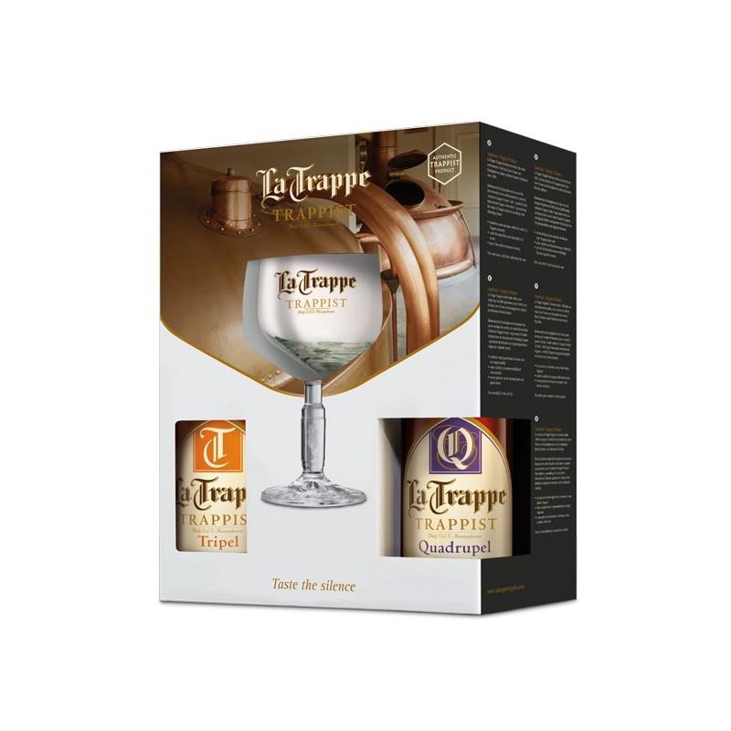 La Trappe ajándék csomag 4x0,33l sör+pohár belga ajándék