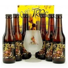 6 db Cuvée des Trolls belga sör + pohár Díszbozban