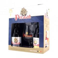 Piraat 2 x 0,33l sör+pohár belga ajándékcsomag