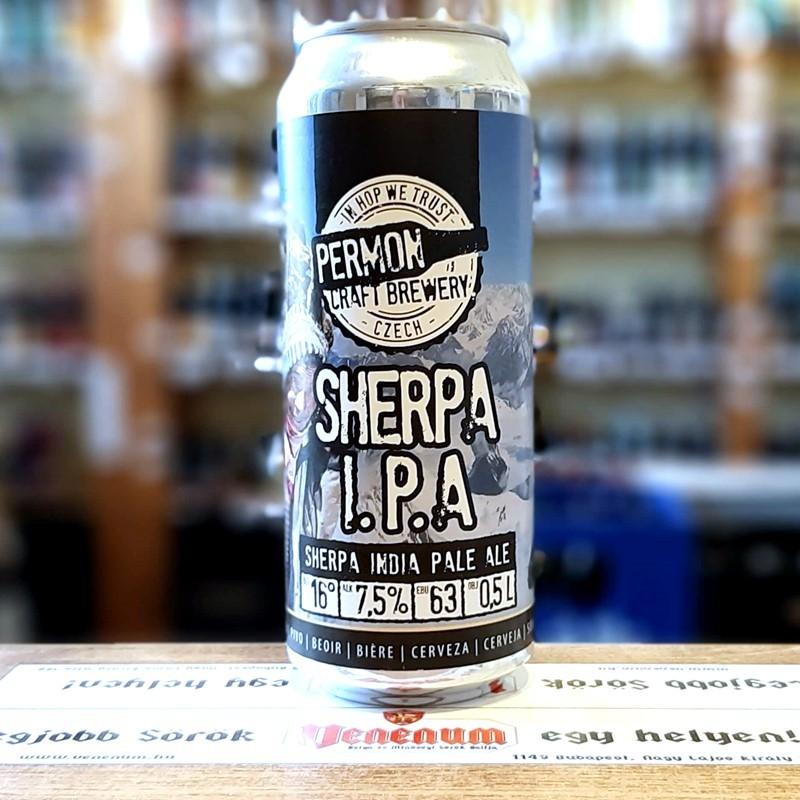 Permon Sherpa IPA 16° 0,5L dob Cseh kraft sör