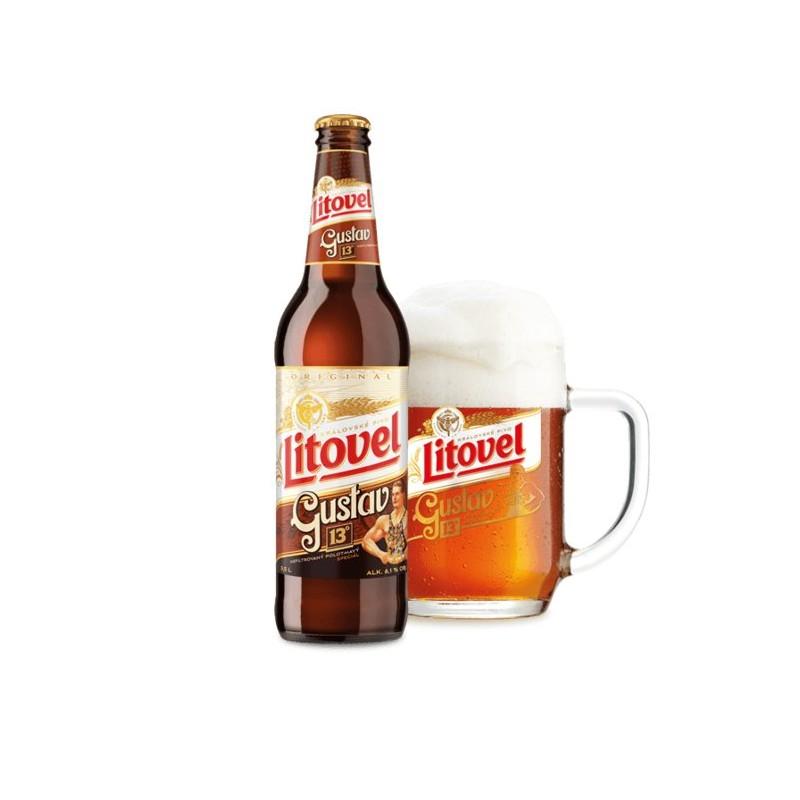 Litovel Gustav 0,5l cseh félbarna sör