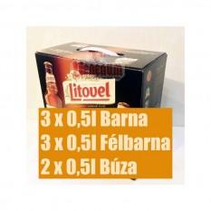 Litovel kóstoló csomag 8 x 0,5l cseh sör válogatás